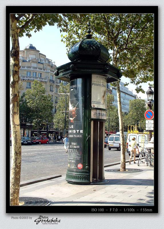 Phone booth on Champs Elysées