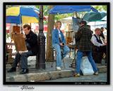 Portrait painting on Place du Tertre