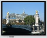 Grand Palais across Pont Alaxandre III