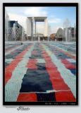 Colorful view on Arche de La Défense