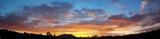 Wing Mountain. Sunset