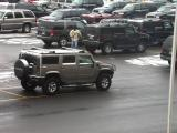 Count the Hummers in the Players Parking lot -- at least 4