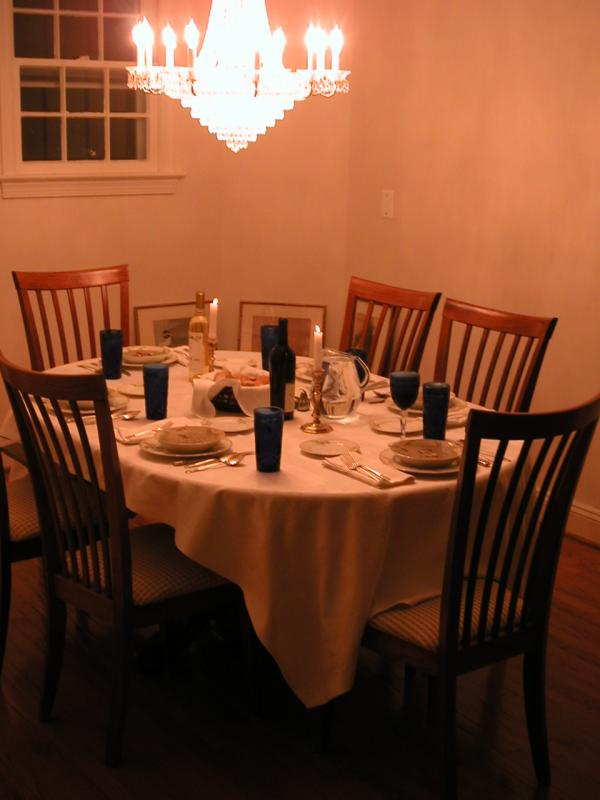new years eve dinner table