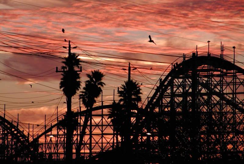 Sunrise at the boardwalk