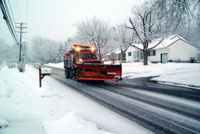 Early Evening Snow Plowing