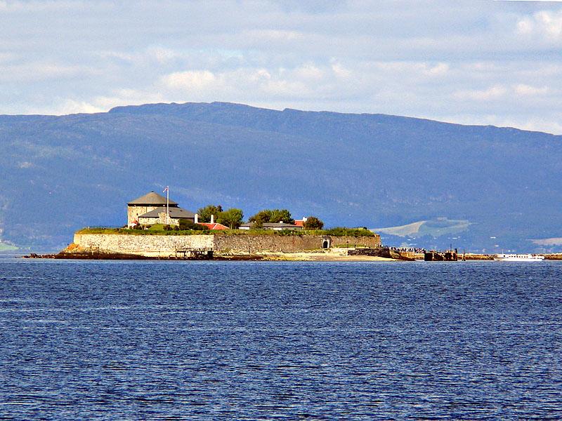 Dream island in the cold sea