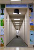 pediatric clinic hallway under construction