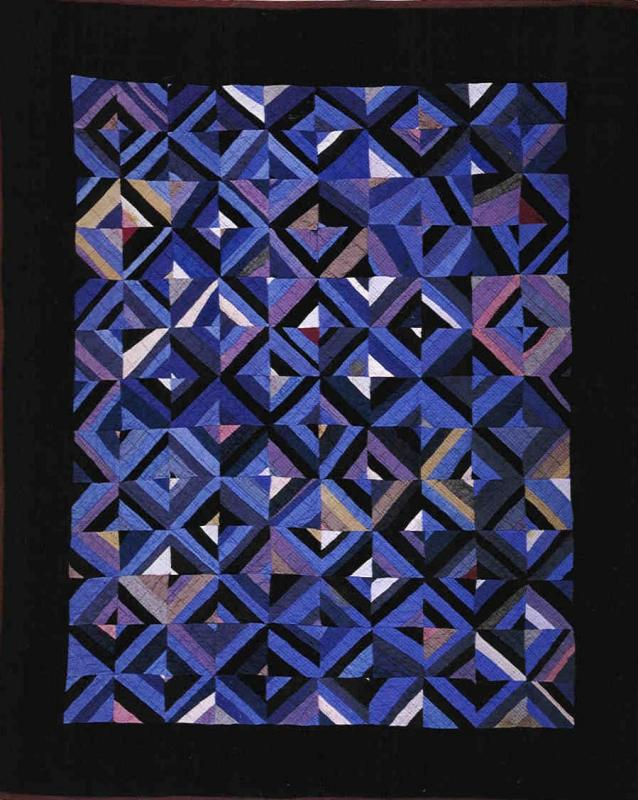 Amish Roman Stripes crib quilt-Ohio c.1930