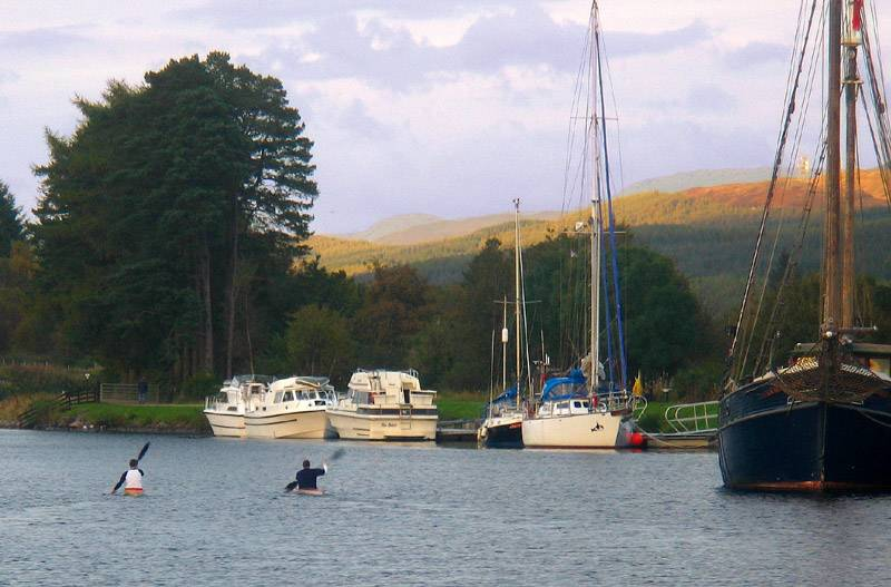 Canoes on Caledonian Canal