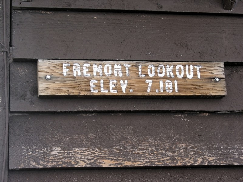 Weathered Lookout Sign