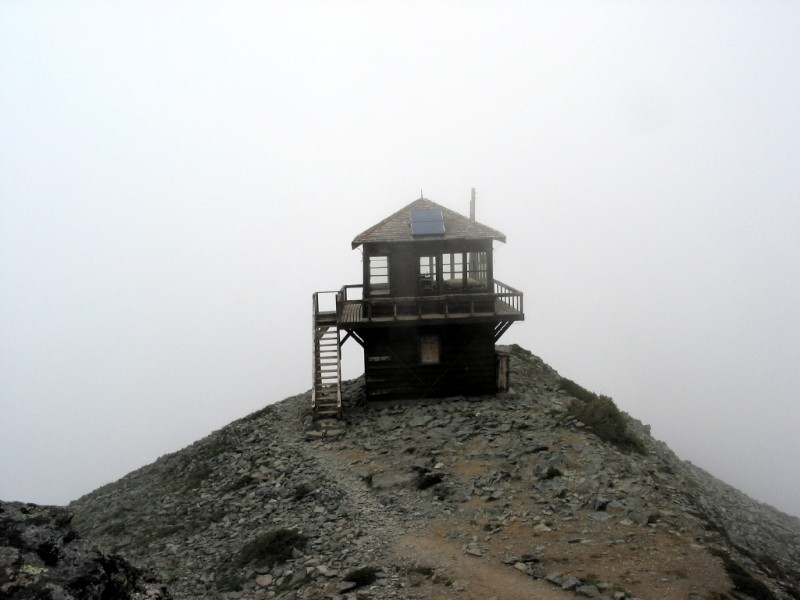 Fire Lookout amid Clouds