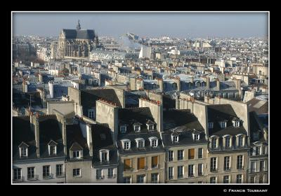 St Eustache in the distance