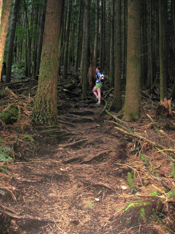 Deb - Climbing up Nook Trail to T3