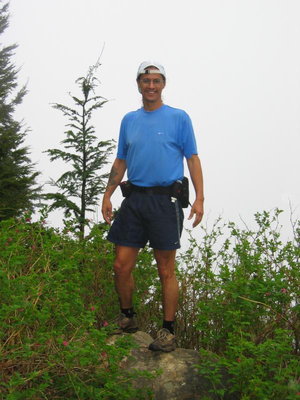Summit 9 (East Tiger) - Tony on the rock