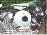 SCREAMING EAGLE BACKING PLATE WITH VIRAGO AIR TUBE INSTALLED