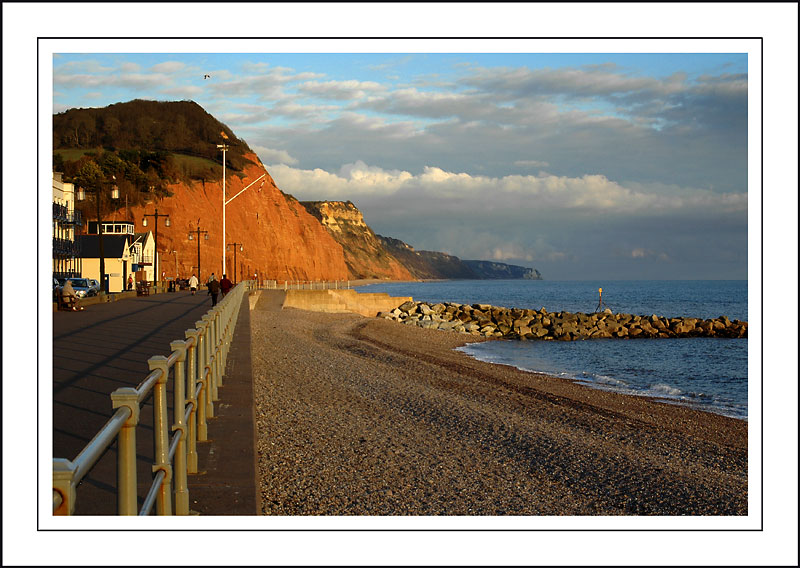 Cliffs and railings, Sidmouth