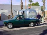 The green Datsun and the 1969 airstream