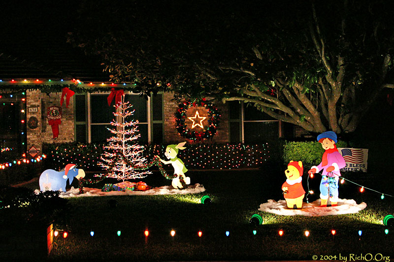 a pooh christmas 1st place handcrafted right side windcrest - Windcrest Christmas Lights