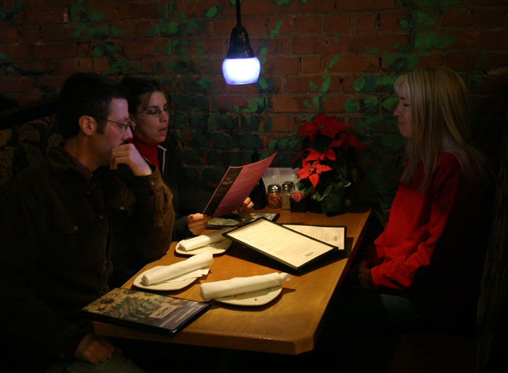 Dec. 20, 2004 - Cozy dinner