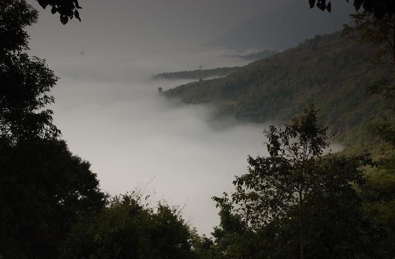 Morning mist at Route 13, Laos