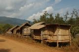 Rice storage huts, Laos