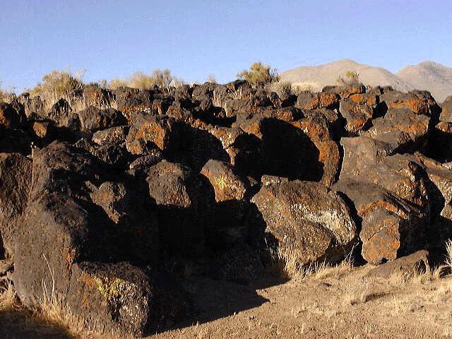 Lava and Lichens, Fossil Falls
