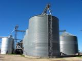 Grain silos in Hutto, TEXAS