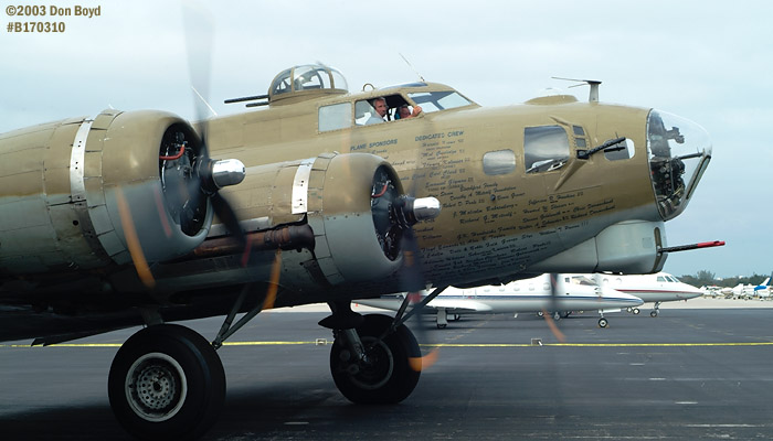 Collings Foundation B-17G Nine-o-Nine #44-83575 aviation warbird stock photo #3321