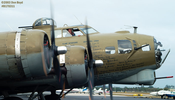 Collings Foundation B-17G Nine-o-Nine #44-83575 aviation warbird stock photo #3322