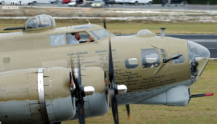 Collings Foundation B-17G Nine-o-Nine #44-83575 aviation warbird stock photo #3342