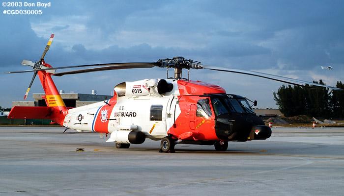2003 - USCG HH-60J Jayhawk CG-6015 at Air Station Miami - Coast Guard stock photo #3253
