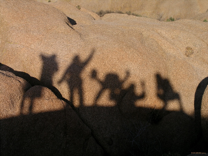 Shadowy Figures At Sunset II
