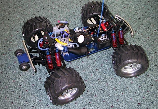 Losi shocks, RC RAven springs, Pro-Line steering, 12.9 grade screws...