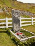 Shackletons grave at Grytviken