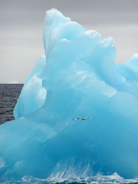 Shades of blue in iceberg
