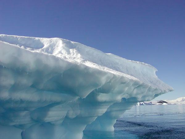 Iceberg overhang