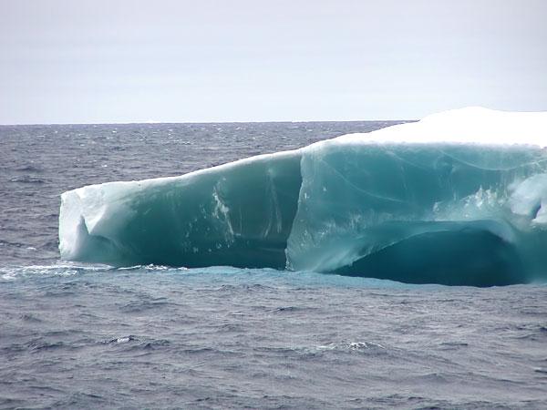Solid ice iceberg