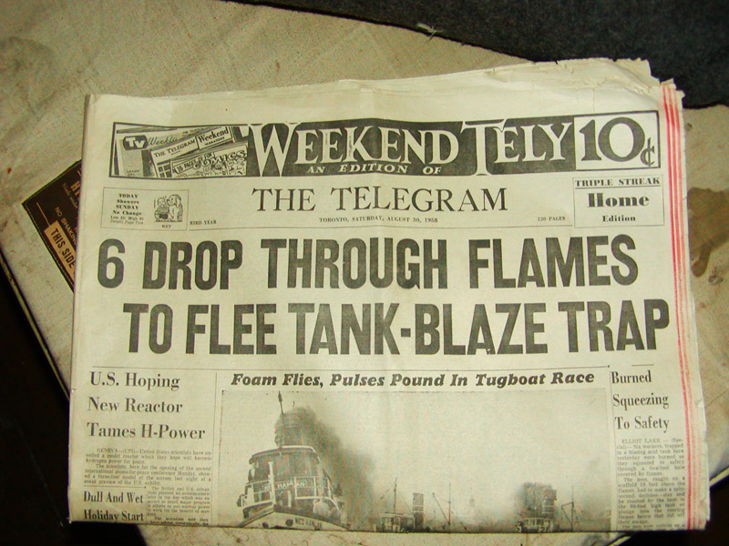 Aug 30, 1958 The Telegram, a Canadian newspaper