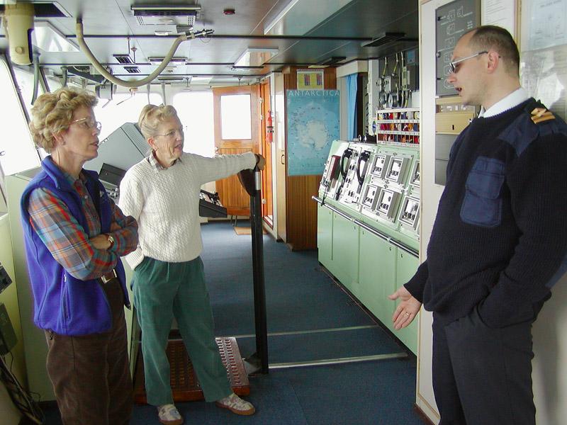 Barbara, Jean & Oleg at the bridge