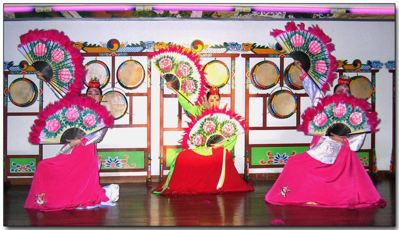 Korean folk dancing