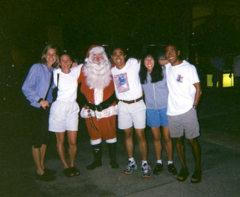 1999 - Group Pic with Santa in Waikiki