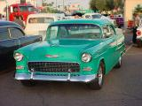 green 55 Chevy