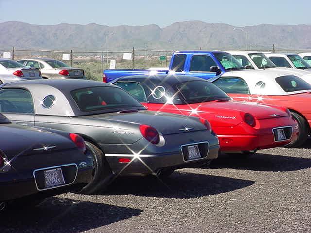 a row of Thunderbirds