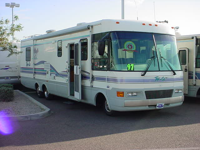 outside of the nice RV