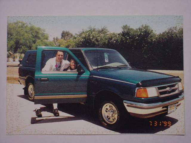Jeff and Tammy in the 1996 Ford ranger
