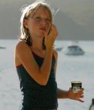 Danielle with ice cream container