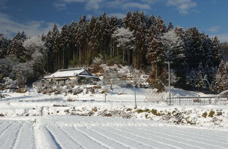 Snow field in Ono-Machi, Tohoku