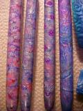 Pens covered with Pinata Ink Mokume Gane