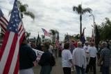 Citizens prepare to walk from Brea City Park to Brea City Hall