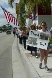 They walked to express their thanks to our troops